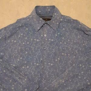 Bugatchi Uomo floral long sleeve sports shirt M